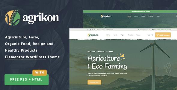 Agrikon - Organic Farm Agriculture WordPress Theme