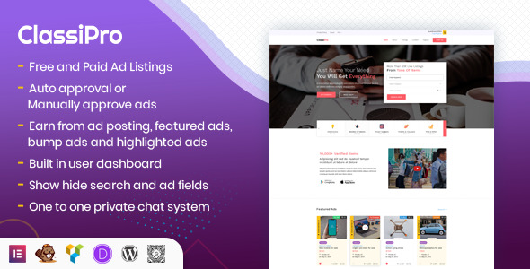 Classipro - Classified Ads WordPress Plugin