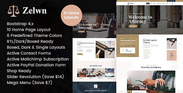 Marvelous Zelwn - Lawyer Attorney HTML