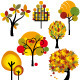 Set of Autumn Tree - GraphicRiver Item for Sale