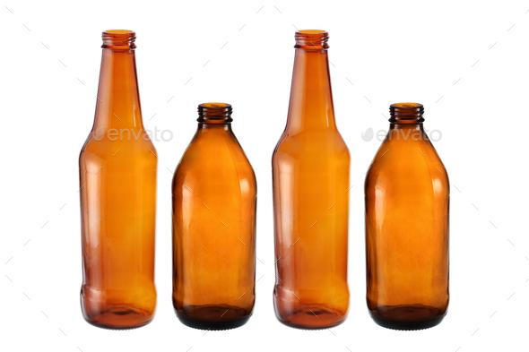 Empty Beer Bottles - Stock Photo - Images