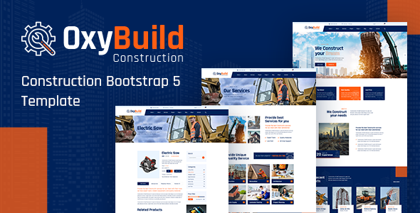 OxyBuild – Construction Bootstrap 5 Template