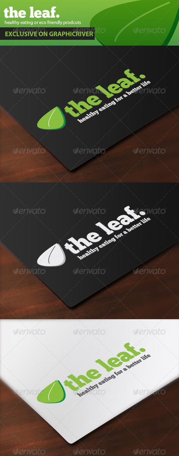 The Leaf. Healthy Eating - Nature Logo Templates