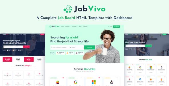 Jobvivo - Responsive Job Board HTML Template