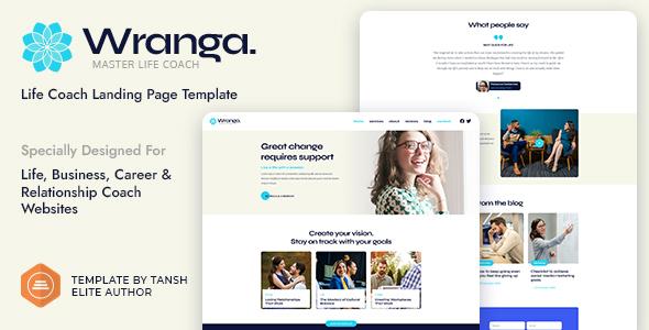 Wranga Life, Business & Career Coach Feminine HTML Landing Page Template