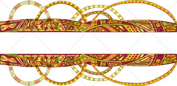 Abstract Border Ethnic Pattern - Borders Decorative
