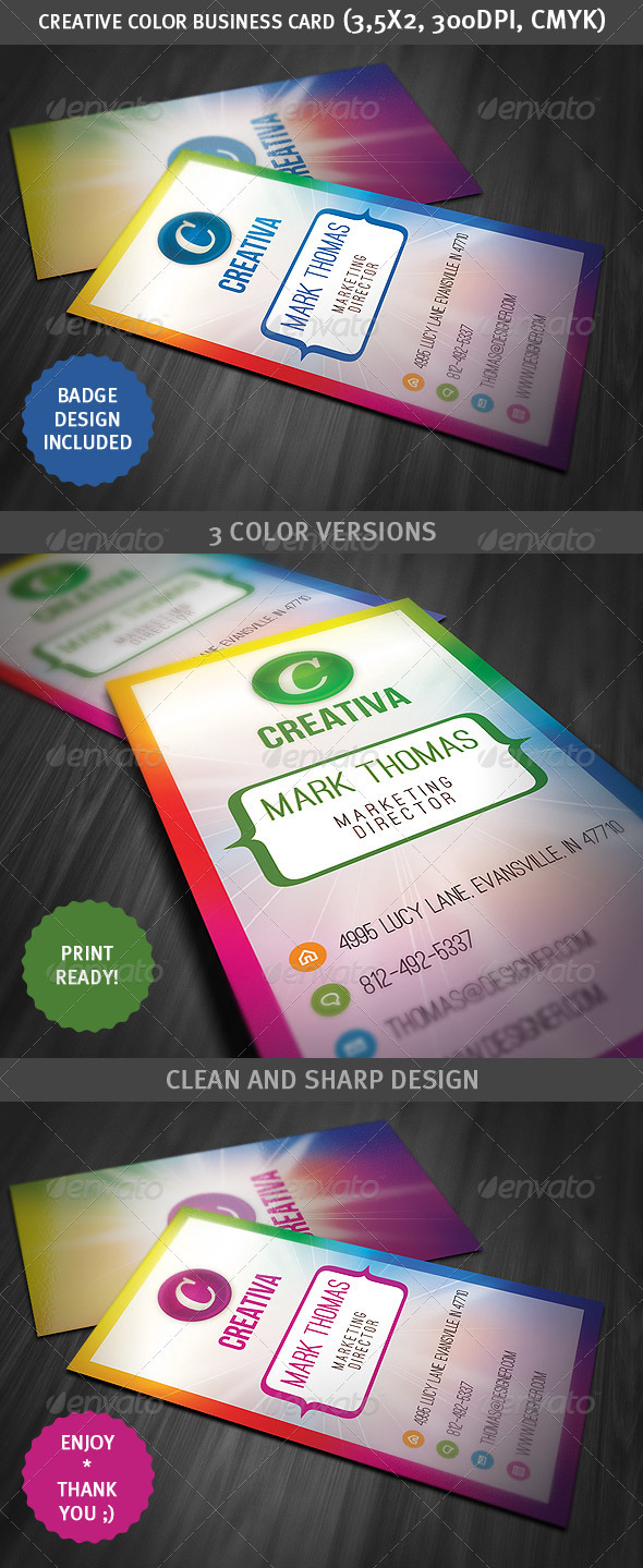 Creative Color Business Card - Creative Business Cards
