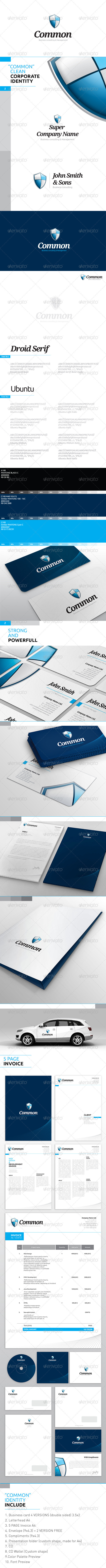 """MASTER package """"Shield"""" - Corporate ID - Corporate Business Cards"""