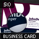Initials Business Card 5.0 - GraphicRiver Item for Sale
