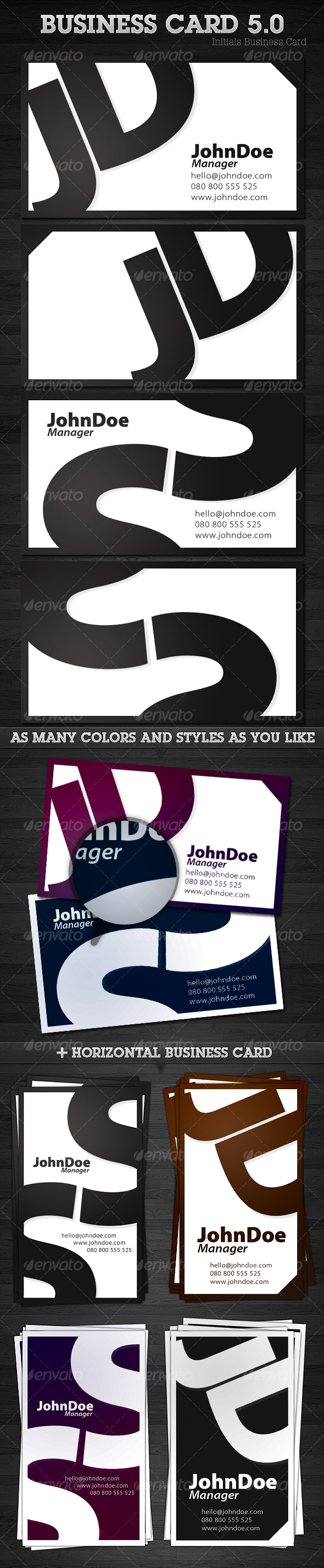 Initials Business Card 5.0 - Corporate Business Cards