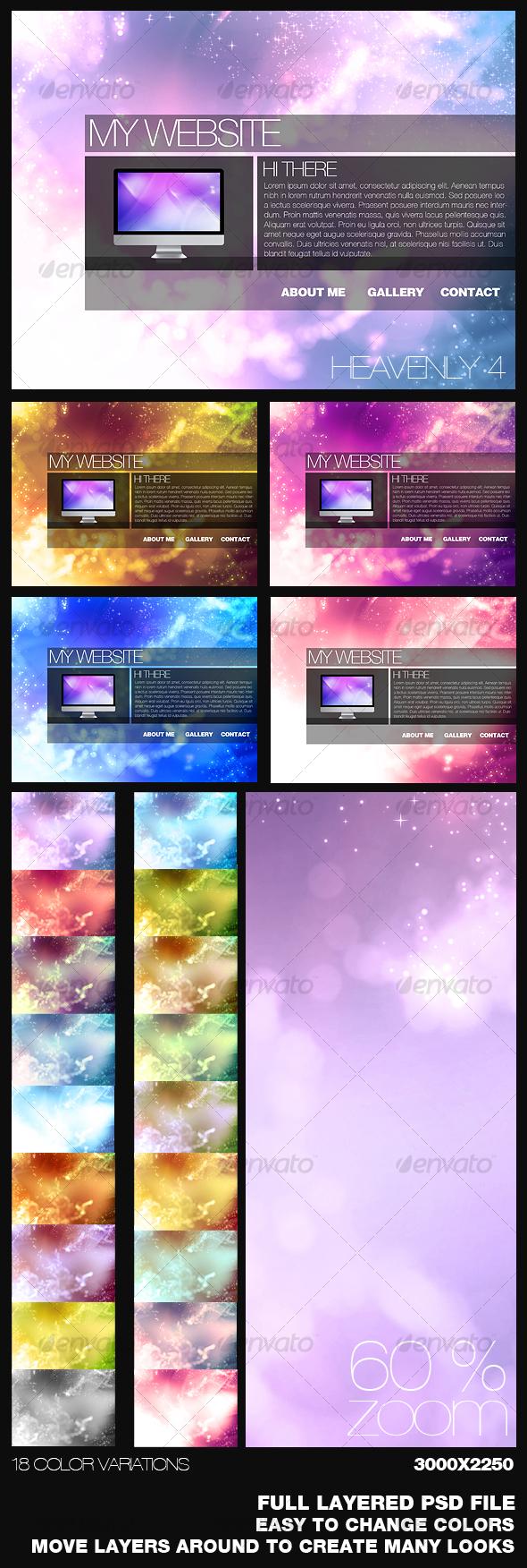 Heavenly Background 4 - Backgrounds Graphics
