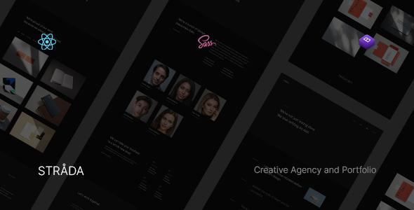 Strada ― React Creative/Portfolio Template