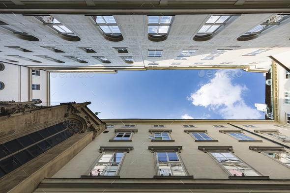 Hofburg Inner Courtyard, Vienna, Austria - Stock Photo - Images