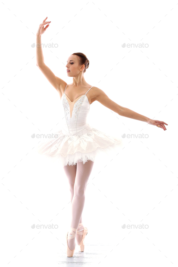 Beautiful and gorgeous ballerina in ballete pose - Stock Photo - Images