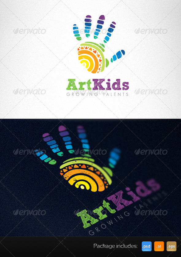 art kids studio creative logo template humans logo templates - Art Templates For Kids