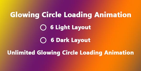 Glowing Circle Loading Animation