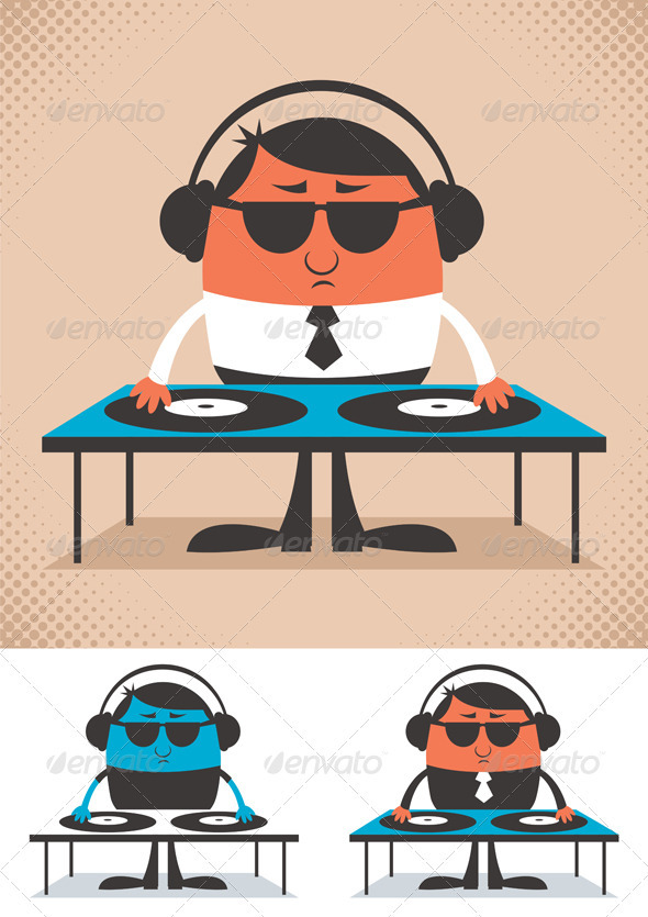 DJ - Characters Vectors