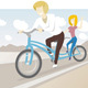 Tandem Bike Riders - GraphicRiver Item for Sale