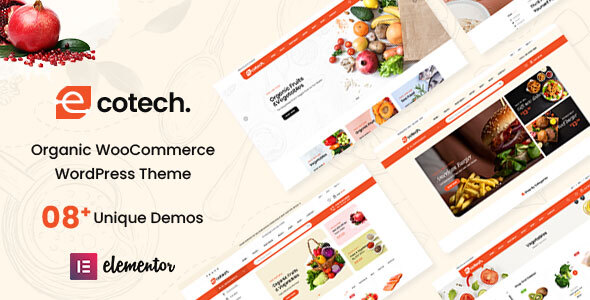 Ecotech - Organic, Food, Multipurpose WooCommerce Theme