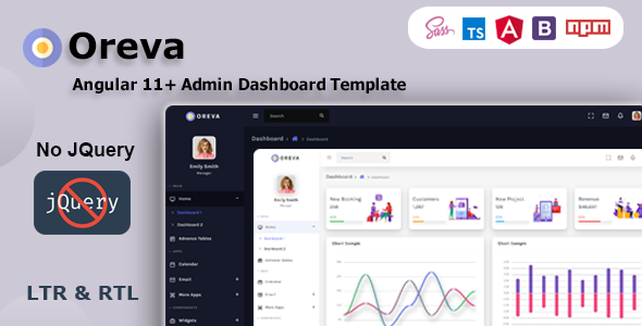 Oreva Angular 11 Admin Dashboard Template Ui Kit By Redstartheme