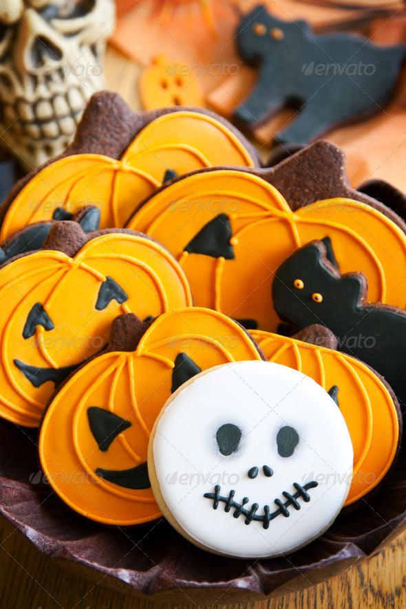 Halloween cookies - Stock Photo - Images
