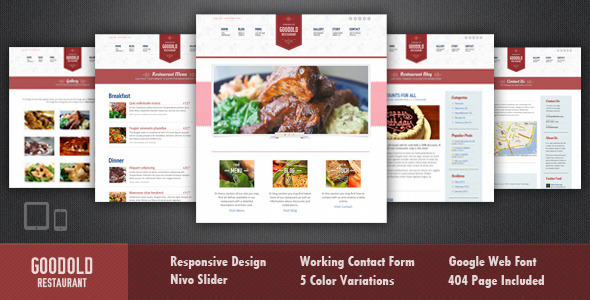 Goodold Restaurant - HTML Template