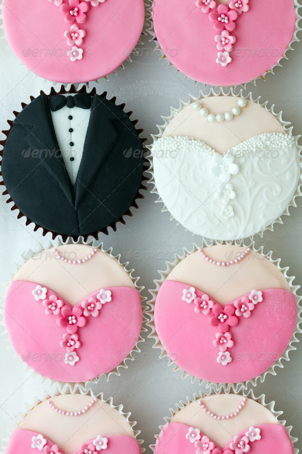 Wedding party cupcakes - Stock Photo - Images
