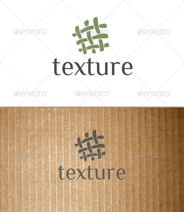 Texture (fabric, textile, tissue, cloth) logo - Objects Logo Templates