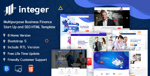 INTEGER – Creative Digital Agency HTML-5 Template + RTL Ready