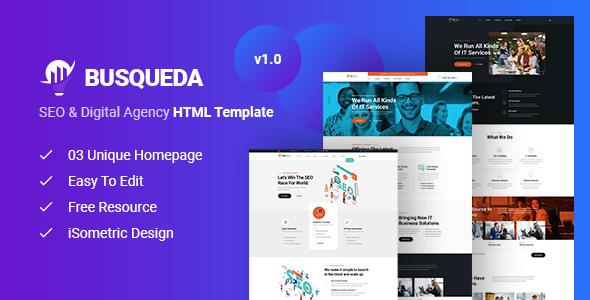 Busqueda - SEO & Digital Agency HTML Template