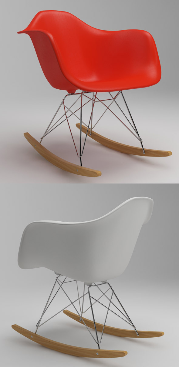 Photoreal Eames Chair - RAR + vray materials  - 3DOcean Item for Sale