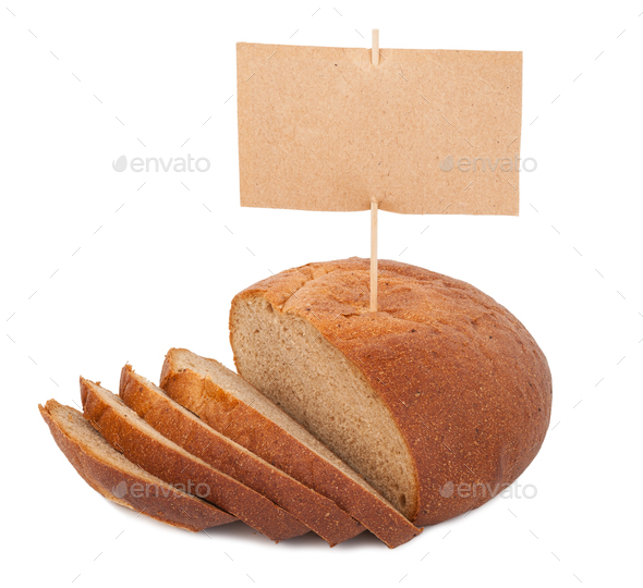 Bread with price tag - Stock Photo - Images