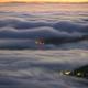 Banks of Fog roll over the hills at sunrise - PhotoDune Item for Sale