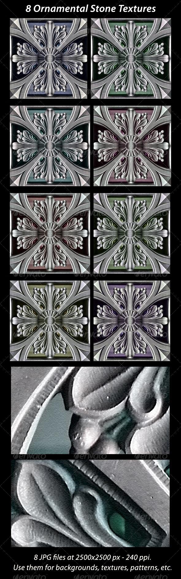 8 Ornamental Stones Textures - Stone Textures