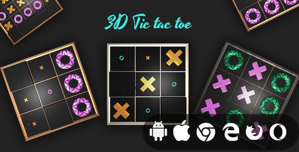 3D Tic Tac Toe - Cross Platform Realistic Casual Game