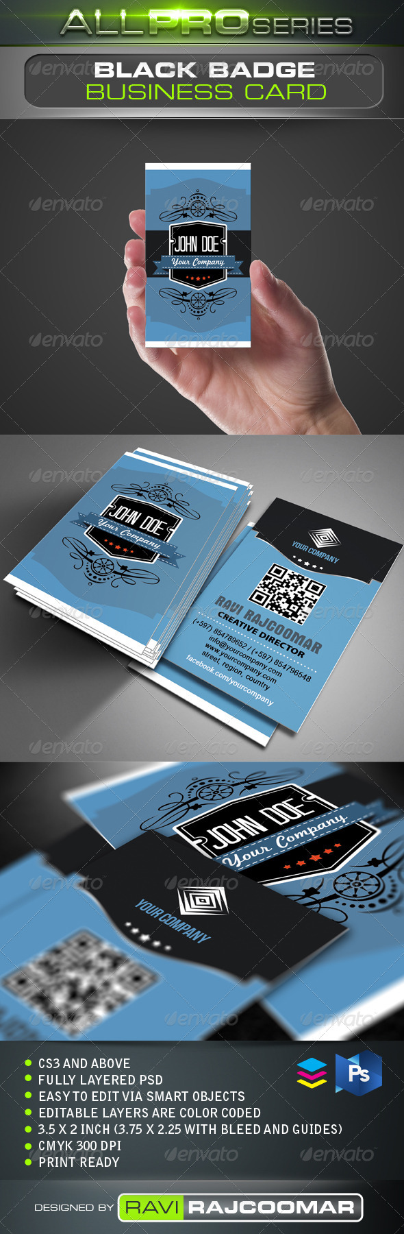 Black Badge Business Card - Creative Business Cards