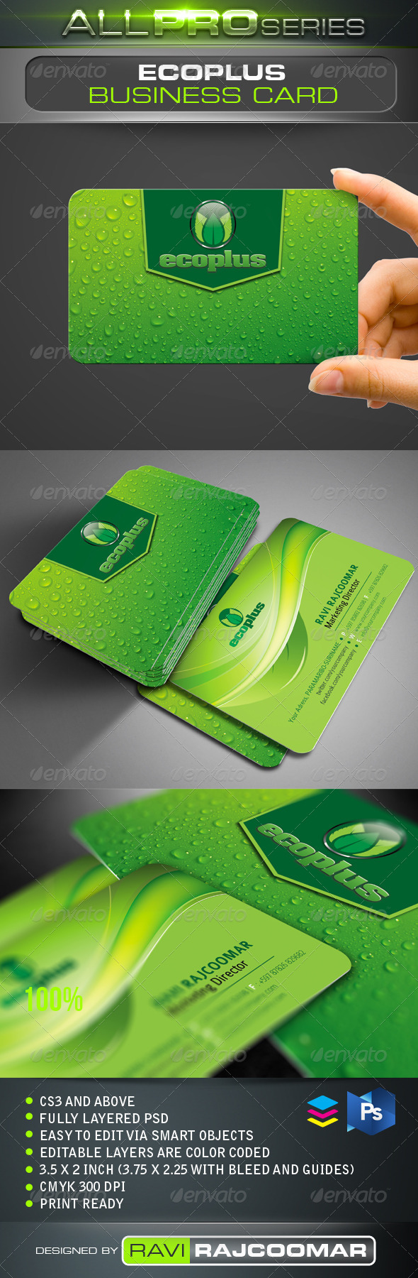 Ecoplus Business Card - Corporate Business Cards