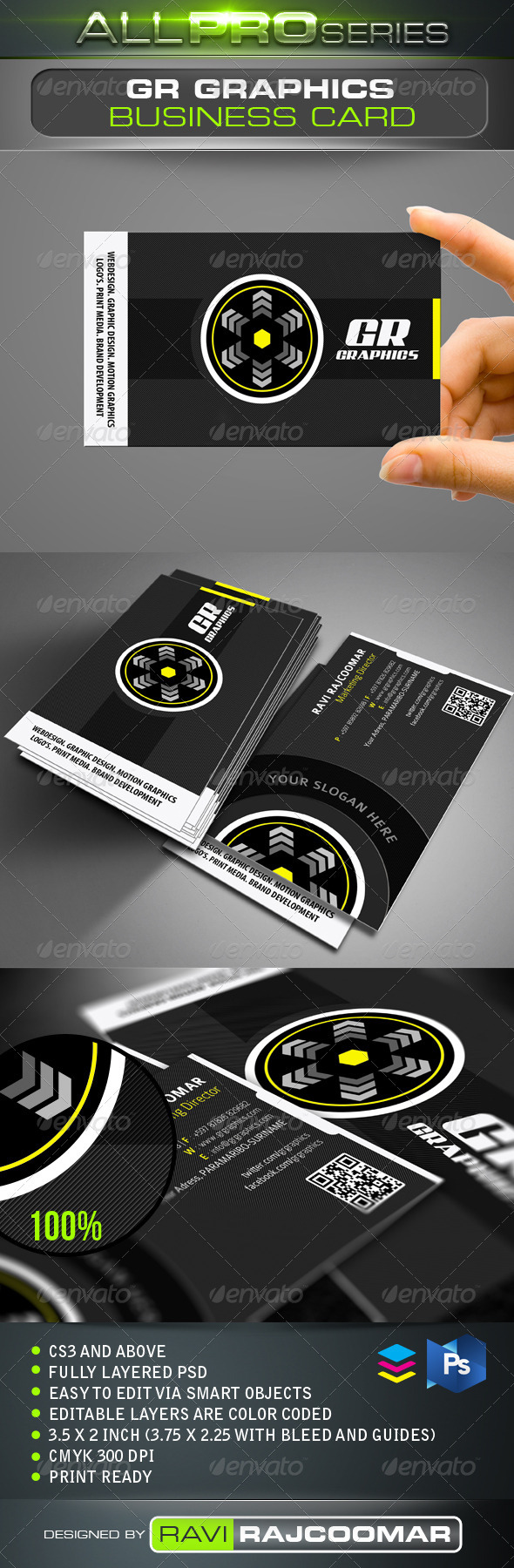 GR Graphics Business Card - Creative Business Cards