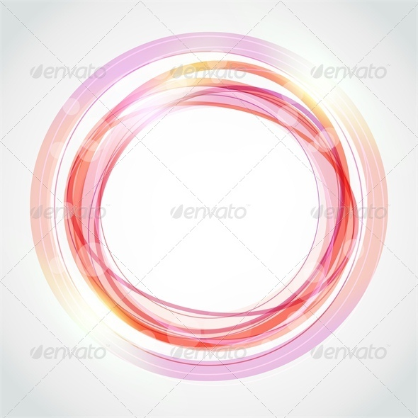 Abstract circle frame - Borders Decorative
