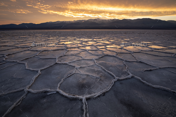 Fire in Death Valley - Stock Photo - Images