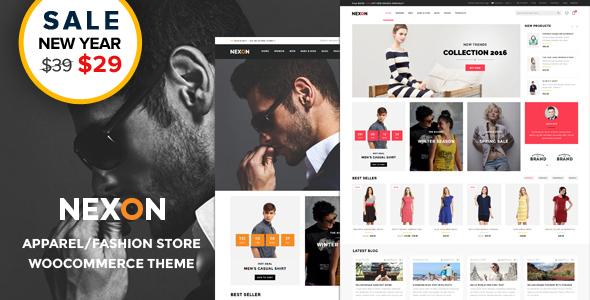 Exceptional Nexon - Apparel Store Multipurpose Responsive WooCommerce WordPress Theme