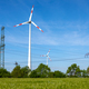 Wind turbines with power lines - PhotoDune Item for Sale