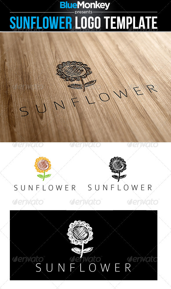 Sunflower Logo Template - Nature Logo Templates