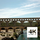 Aerial View of Roman Aqueduct Pont du Gard - VideoHive Item for Sale