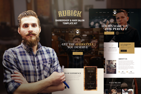 Rubick - Barbershop & Hair Salon Elementor Template Kit