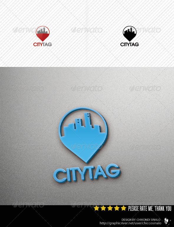 City Tag Logo Template v2 - Abstract Logo Templates