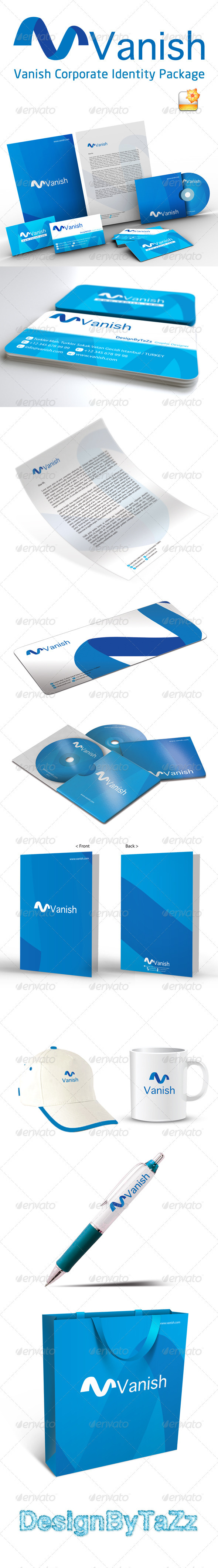 Vanish Corporate Identity Package - Stationery Print Templates