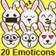 20 Rabbit Emoticons - GraphicRiver Item for Sale
