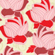 Seamless Pattern with  Red Lotus - GraphicRiver Item for Sale