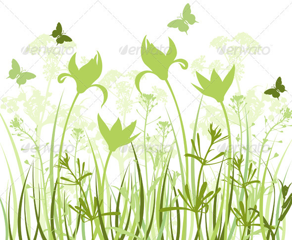 Green Floral Background - Flowers & Plants Nature